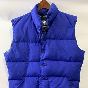 Vtg North Face Vest large royal blue